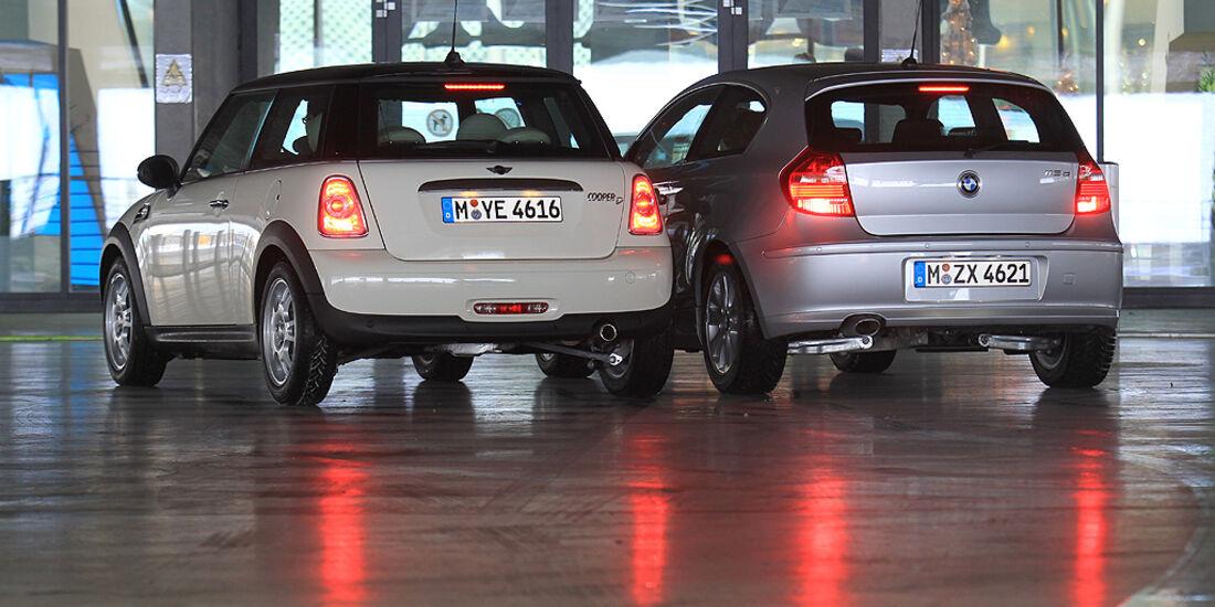 Bmw 1er Vs Mini Cooper Vergleichstest Duell Der Diesel Bayern