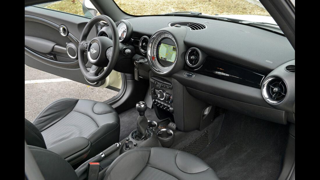 Mini Cooper D Clubvan, Fahrersitz, Cockpit