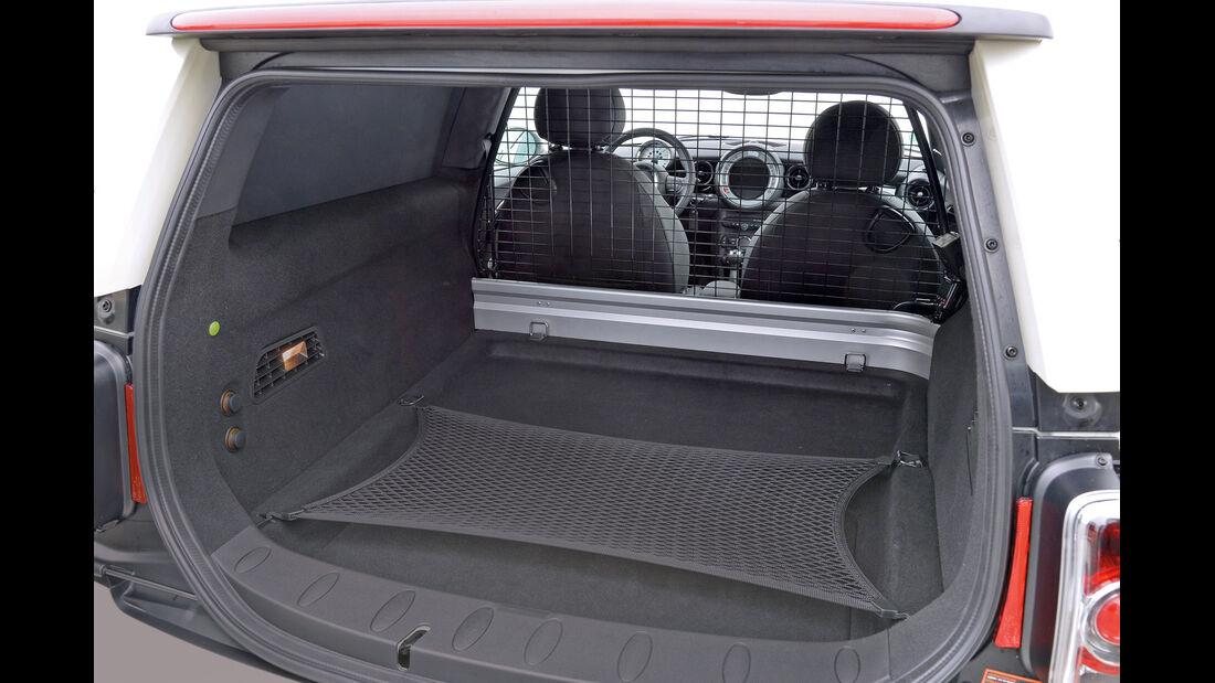 Mini Cooper D Clubvan, Kofferraum, Ladefläche
