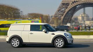 Mini Cooper D Clubvan, Seitenansicht, Eifelturm