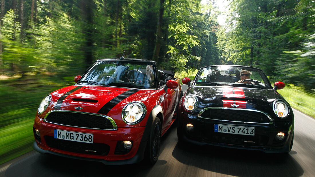 Mini Cooper JCW Cabrio, Mini JCW Roadster, Frontansicht
