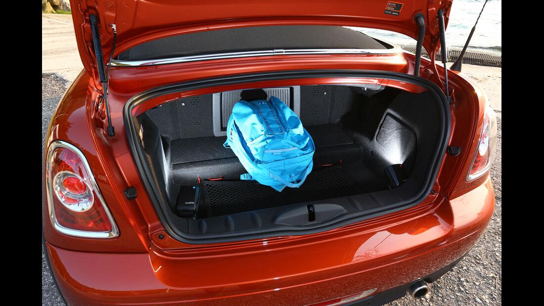 Mini Cooper Roadster, Kofferraum