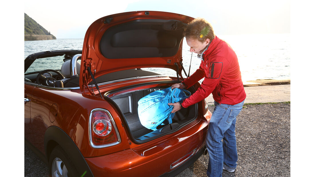 Mini Cooper Roadster, Kofferraum, Heckklappe