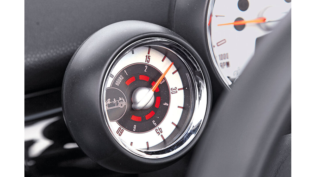 Mini Cooper S Cabrio, Cockpit, Sonnentor