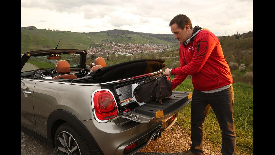 Mini Cooper S Cabrio, Kofferraum