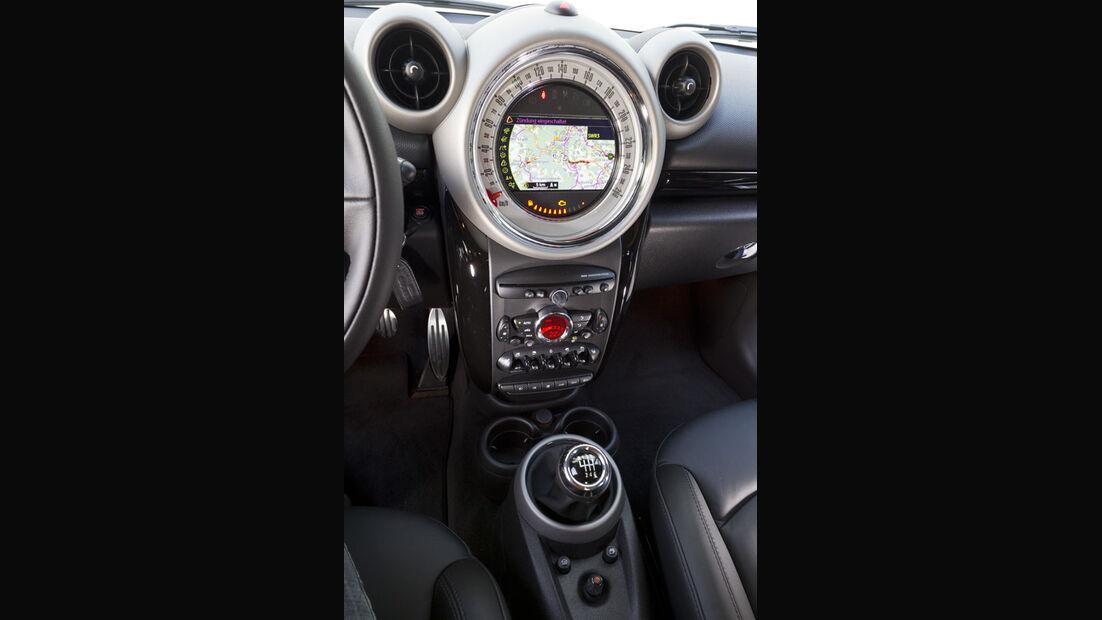 Mini Cooper S Countryman ALL4, Mittelkonsole, Infotainmentsystem
