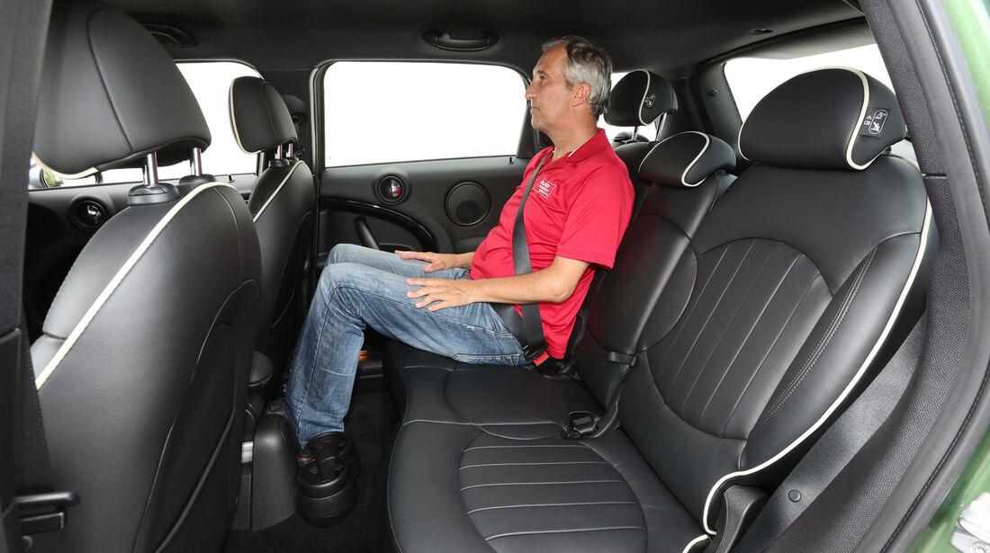 Mini Cooper S Countryman All4, Fondsitz, Beinfreiheit