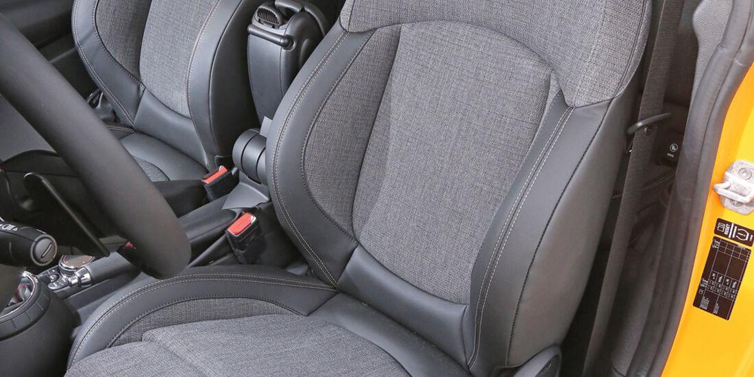 Mini Cooper S, Fahrersitz