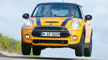 Mini Cooper S, Frontansicht, Sprung