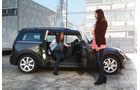 Mini Cooper SD Clubman, Seitenansicht, Seitentüren offen