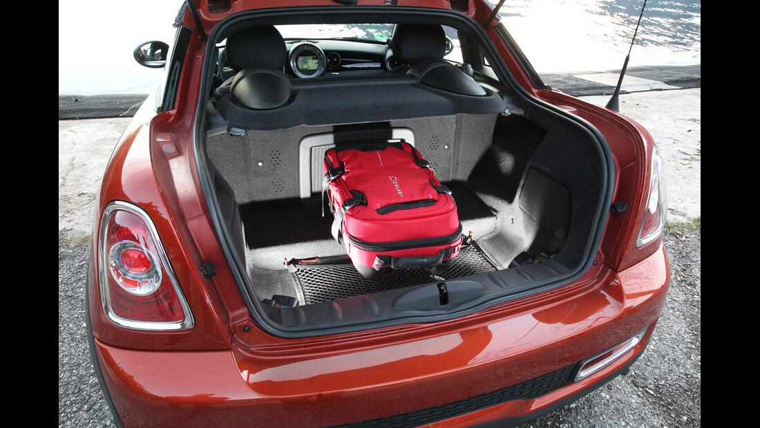 Mini Cooper SD Coupé, Kofferraum