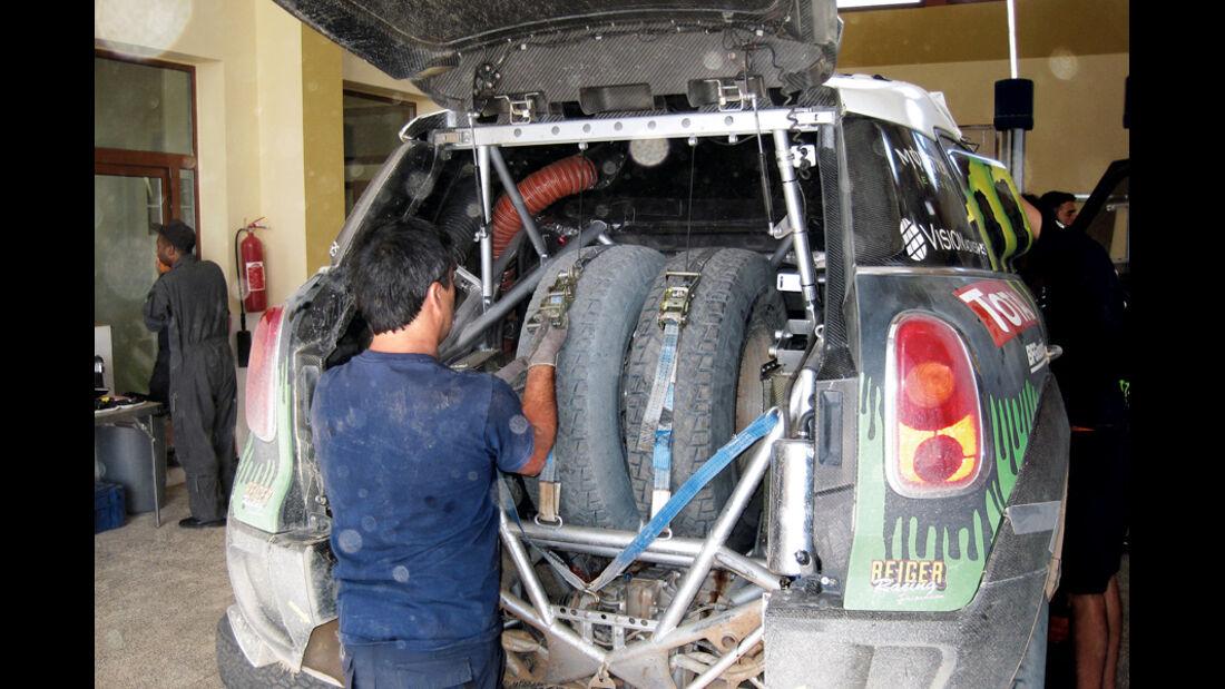 Mini Countryman All4, Dakar Rallye, Kofferraum