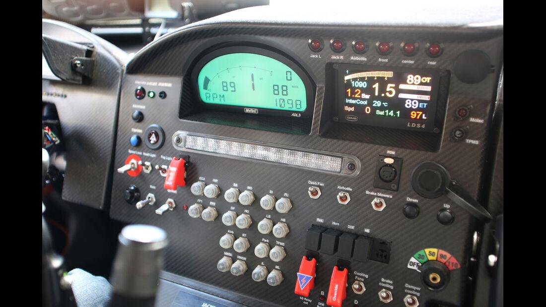 Mini Countryman All4-Prototyp, Cockpit, Bedienelemente