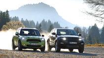 Mini Countryman, Range Rover Evoque