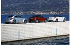 Mini Coupé, Peugeot RCZ, VW Beetle, Seitenansicht