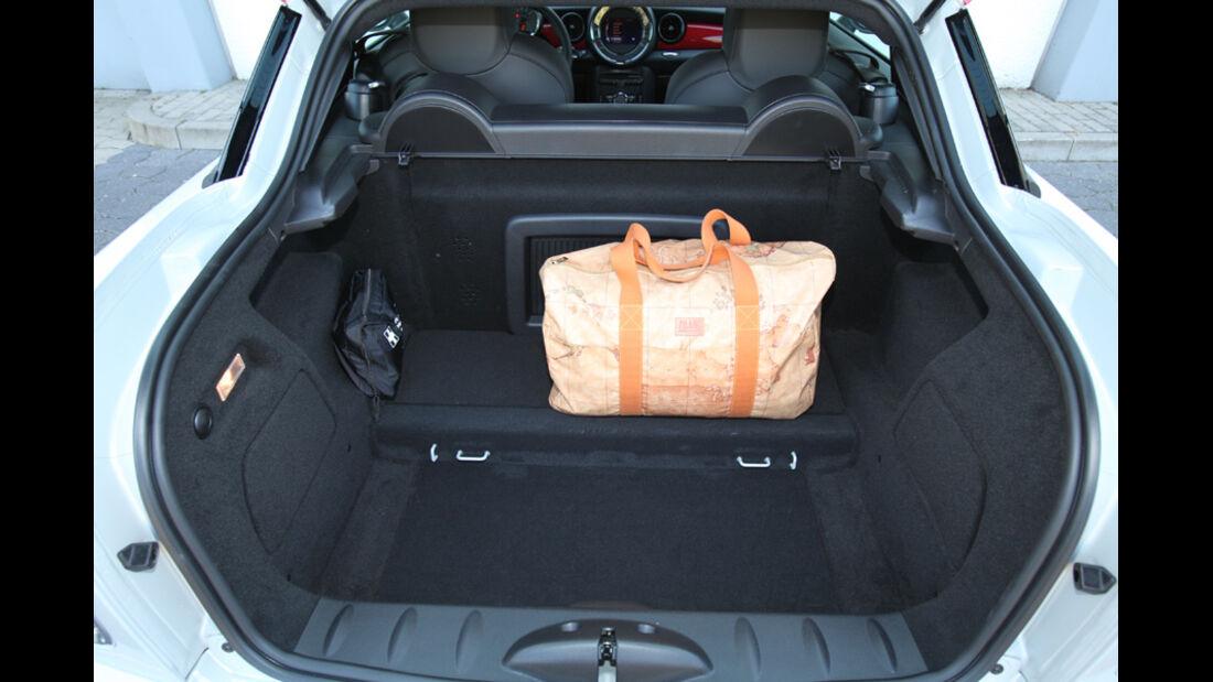 Mini Coupe Cooper Works, Kofferraum