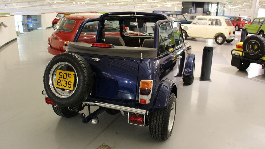 Mini Eigenbau-Cabrio im British Motor Museum