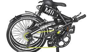 Mini Folding Bike, gefaltet