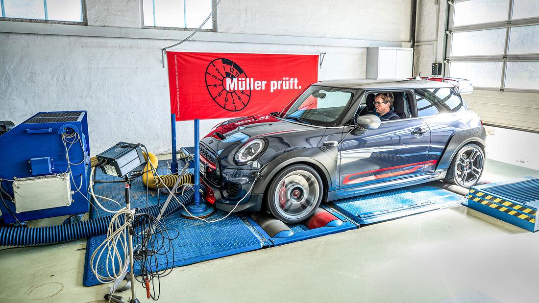 Mini JCW GP, Leistungsmessung