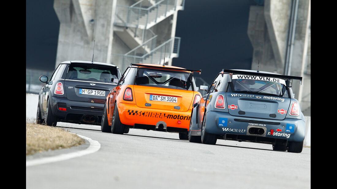 Mini JCW GP, Schirra- Mini JCW GTS, Schirra-Mini, Heckansicht