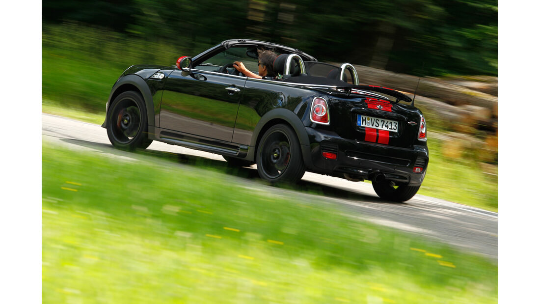 Mini JCW Roadster, Heckansicht