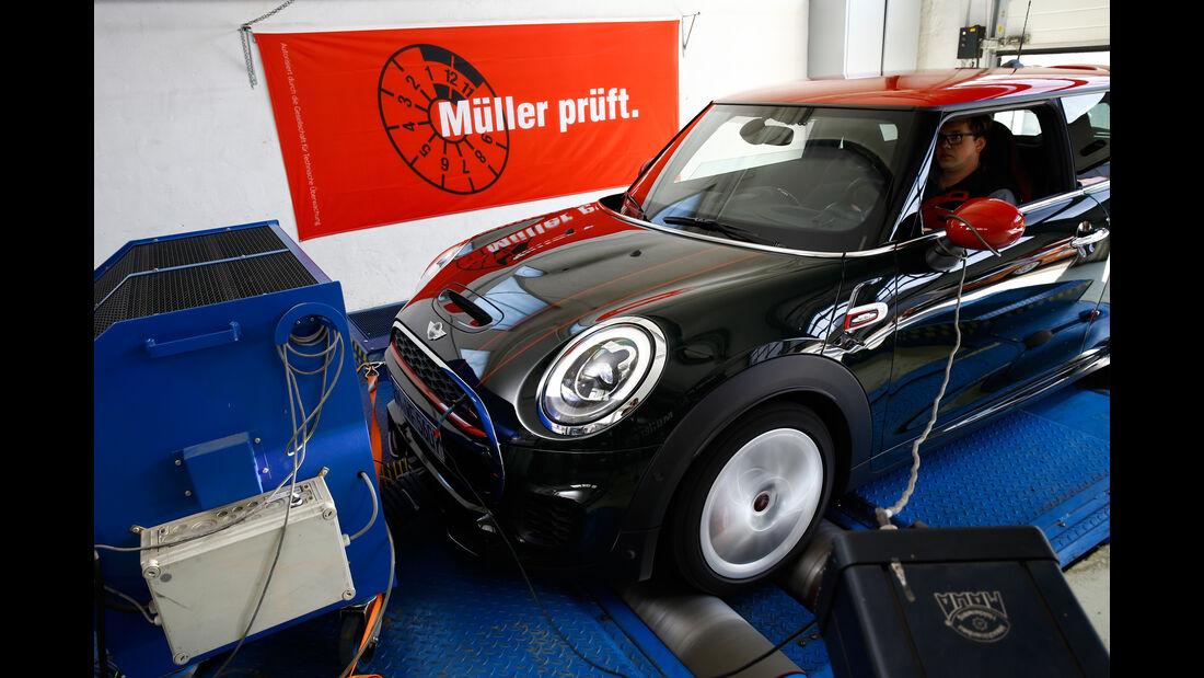 Mini John Cooper Works, Prüfstand, Leistungsmessung