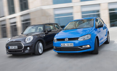 Mini One D, VW Polo 1.4 TDI Blue Motion, Frontansicht