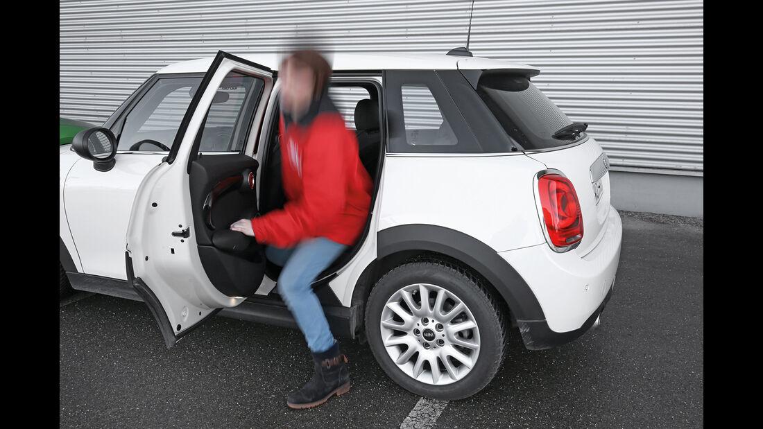 Mini One, Fondsitz, aussteigen
