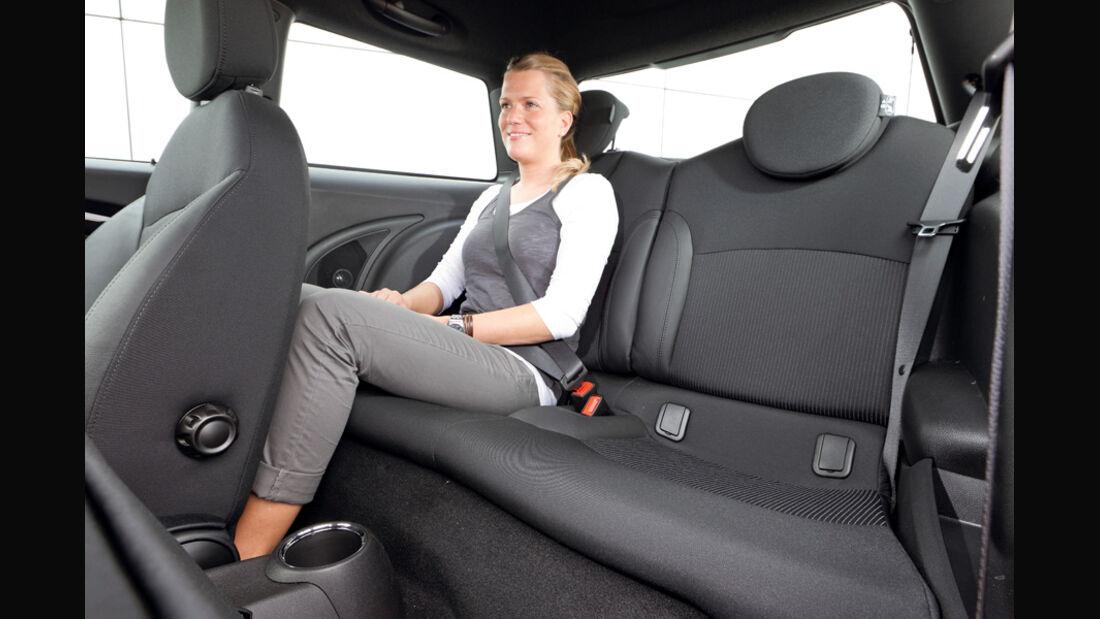 Mini One, Rücksitz, Rückbank