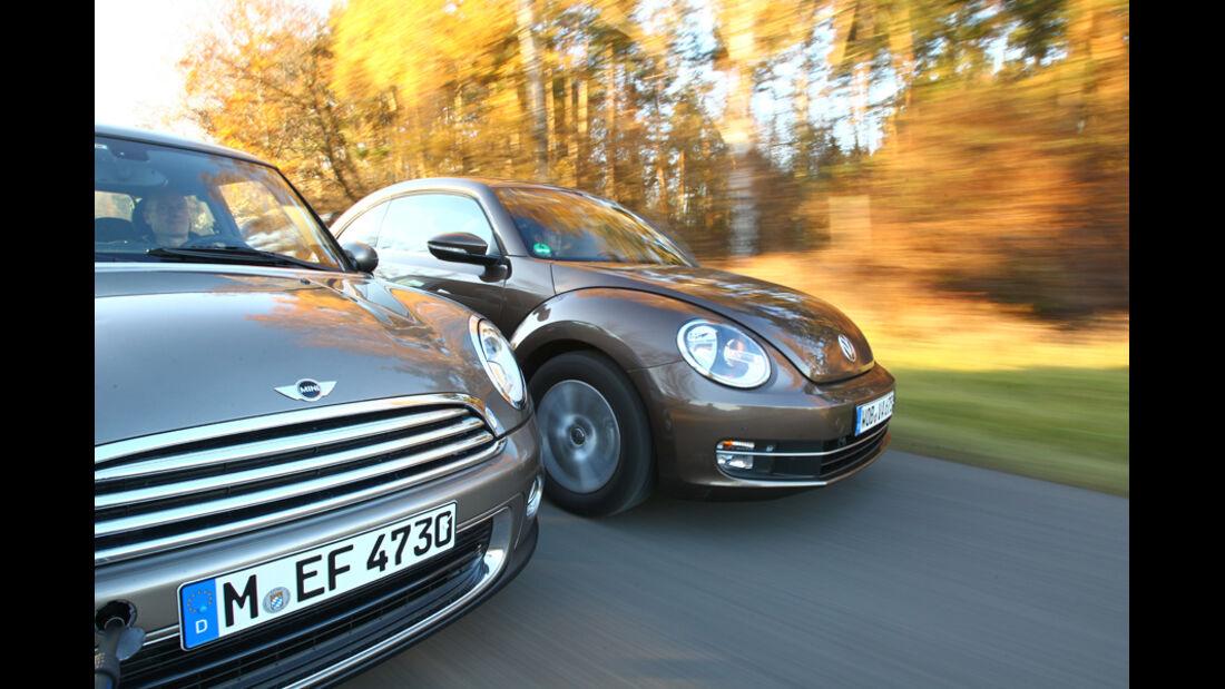 Mini One, VW Beetle 1.2 TSI