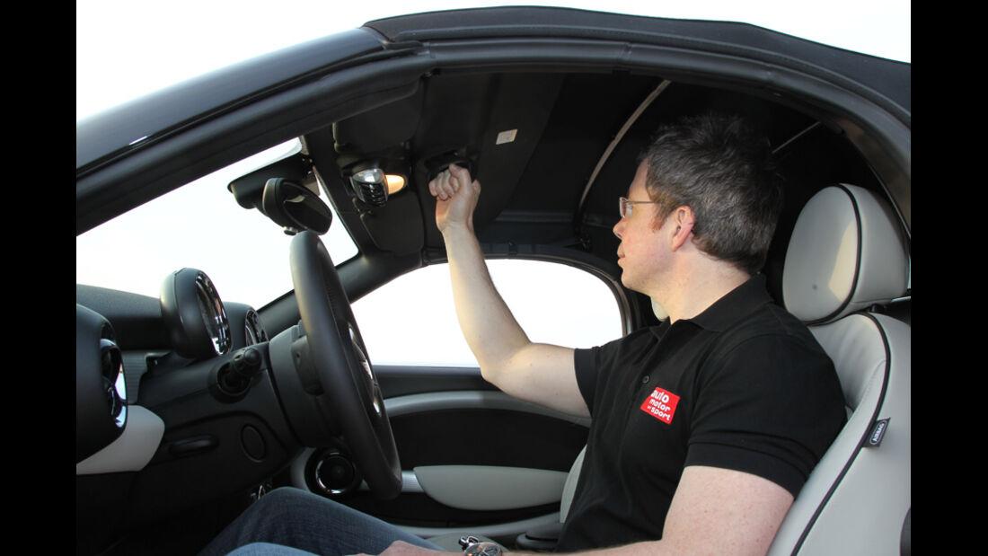 Mini Roadster, Fahrersitz