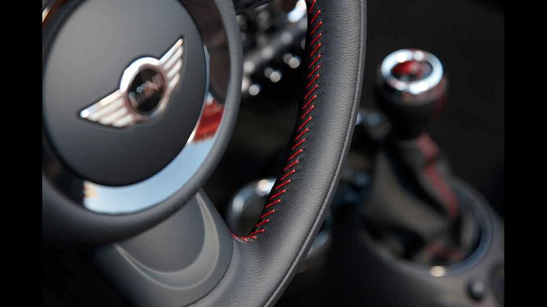 Mini Roadster, Lenkrad, Schalthebel