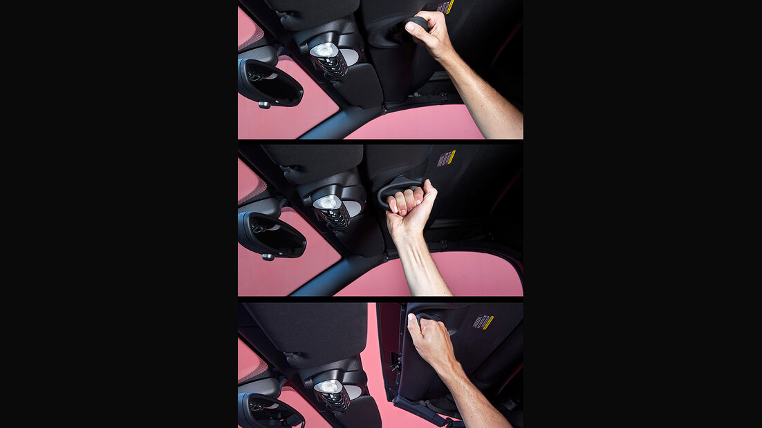 Mini Roadster, Stoffverdeck, Schleißmechanismus