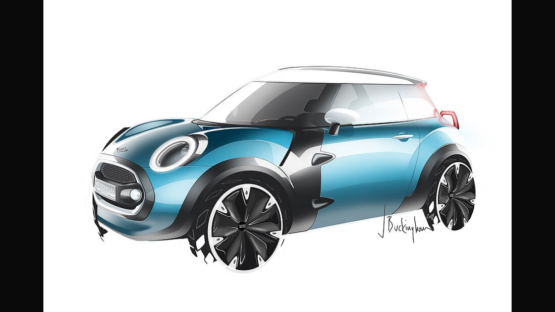 Mini Rocketman Concept, Sketch, Designzeichnung