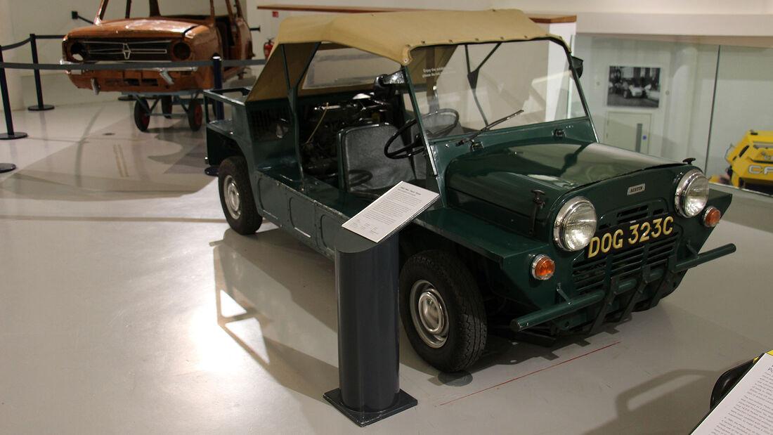 Mini Twiny Moke mit 2 Motoren im British Motor Museum