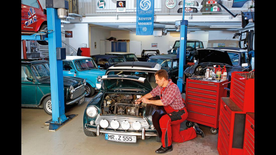 Mini, Werkstatt, Motor