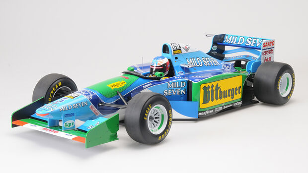 Minichamps Benetton Ford B194 von Michael Schumacher (Australien GP 1994) als Modellauto im Maßstab 1:8