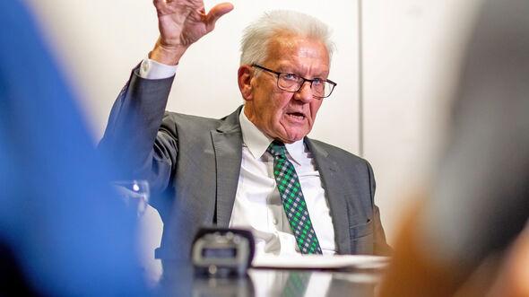 Ministerpräsident Winfried Kretschmann Redaktionsbesuch auto motor und sport