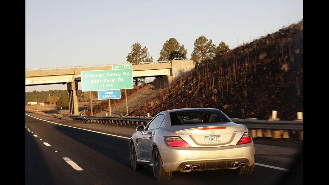 Mit dem Mercedes SLK auf der Route 66