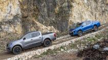 Mitsubishi L200 Doppelkabine 2.2 DI-D 4WD Plus, Nissan Navara Double Cab 2.3 dCi 4x4 N-Guard, Exterieur