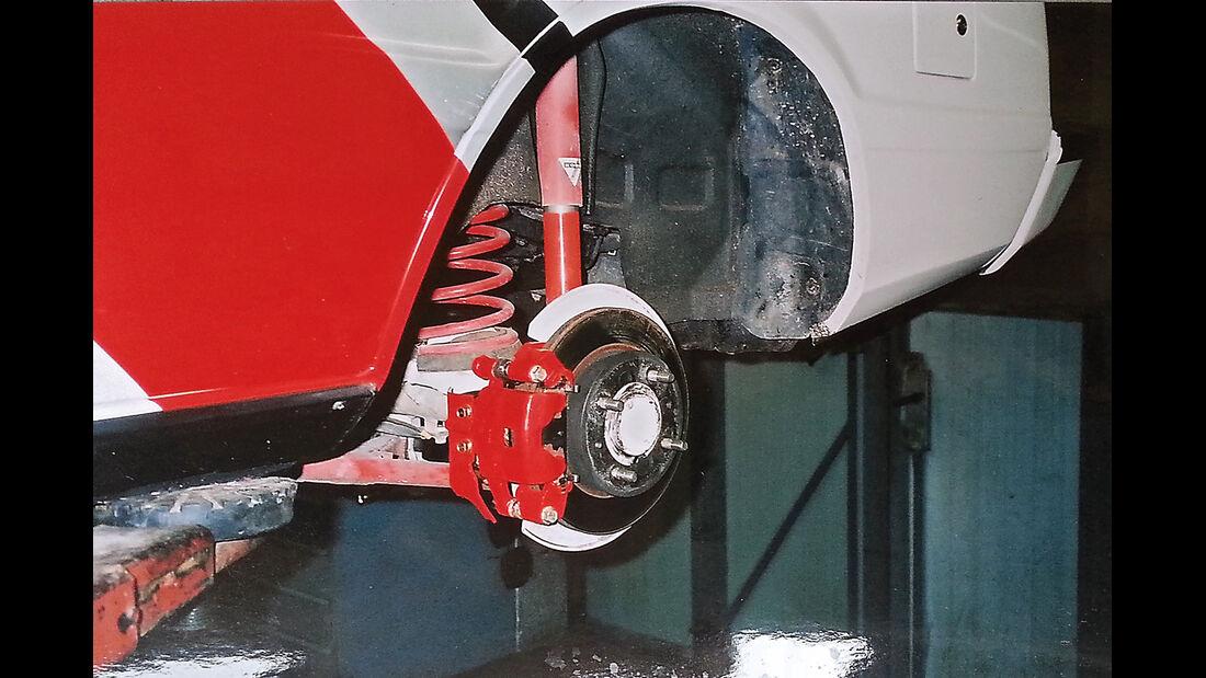 Mitsubishi Lancer 2000 Turbo ECI, Fahrwerksoptimierung