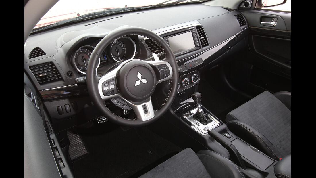 Mitsubishi Lancer Evo, Cockpit, Lenkrad