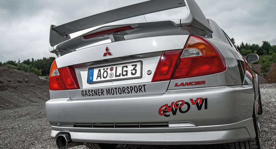 Mitsubishi Lancer Evo, Heckansicht
