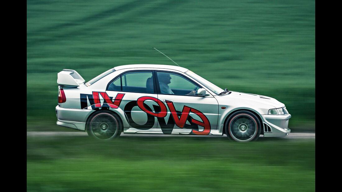 Mitsubishi Lancer Evo VI, Seitenansicht