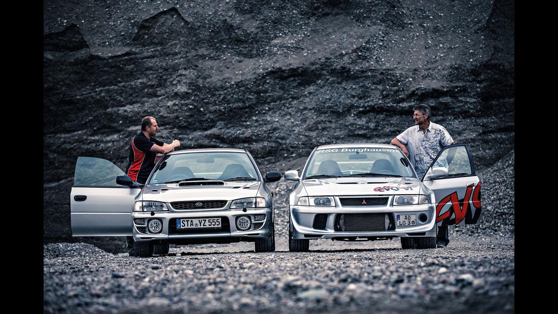 Mitsubishi Lancer Evo VI, Subaru Impreza GT Turbo,