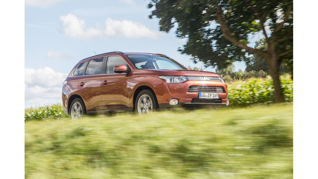 Mitsubishi Outlander 2.2 Di-D 4WD Instyle, Frontansicht