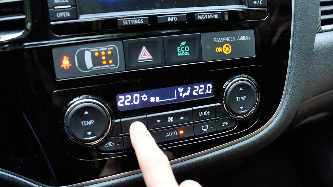 Mitsubishi Outlander, Mittelkonsole, Klimaanlage