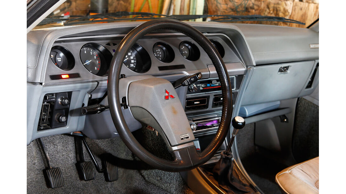 Mitsubishi Sapporo 2000 GS/R, Lenkrad, Cockpit