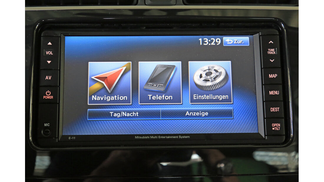 Mitsubishi Space Star 1.2, Bildschirm, Bordcomputer
