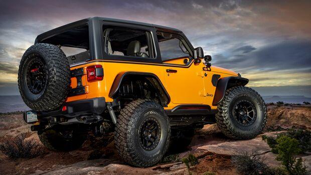 Moab Easter Jeep Safari 2021: Jeep Wrangler Orange Peelz Concept
